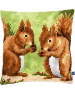 Borduurkussen Smullende eekhoorns Vervaco PN-0155243