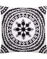 Borduurpakket kussen kruissteek Zwart/wit van Vervaco pn-0155756