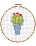Borduurpakket met borduurring Cactus en rode bloem vervaco pn-0155972