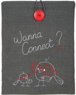 voorbedrukte Tasje voor iPad Wanna connect. vervaco pn-0156717