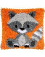 Knoopkussen Wasbeer van Vervaco om te knopen  pn-0158088