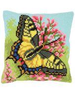 Vervaco kruissteek borduurpakket borduurkussen vlinder pn-0163768