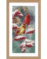 Borduurpakket kardinaalvogels van Vervaco  PN-0165887