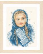 Borduurpakket Wintermeisje op kaaslinnen van lanarte pn-0169674