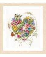 Lanarte borduurpakket Bloemenhartje van Marjolein Bastin pn-0169960
