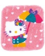 knooppakket knoopkleed Hello Kitty met hartjes regen van Vervaco pn-0173009