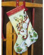 Dimensions borduurpakket Kerstsok sneeuwpoppen op de slee borduren 70-08853
