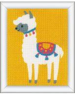 Vervaco borduurpakket halve kruissteek Lama voor kinderen PN-0178347