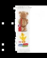 Borduurpakket  naar school 1 boekenlegger van Popcorn the Bear om te borduren