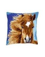 Borduurpakket kruissteekkussen bruin paard van vervaco pn 0149463