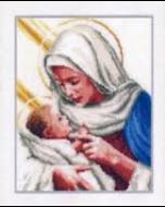 Borduurpakket Maria en Jezus van vervaco