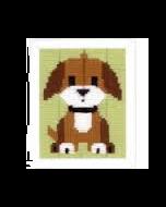 Borduurpakket  spansteek hond voor kinderen om te borduren van Vervaco