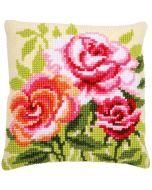 Vervaco borduurkussen rozen pn-0166936 Kruissteek
