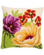 Vervaco borduurkussen zomerbloemen pn-0170507 borduren