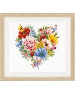 Vervaco borduurpakket bloemenhartje borduren pn-0179766