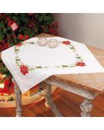 Vervaco borduurpakket tafelkleed kerstrozen borduren voorbedrukt pn-0013213