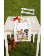 Vervaco borduurpakket tafelloper kippenfamilie met telpatroon pn-0145793