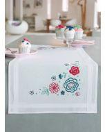 Vervaco borduurpakket tafelloper Moderne bloemen pn-0155020 borduren