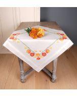 Vervaco borduurpakket voorbedrukte tafelkleed klaprozen borduren pn-0149416