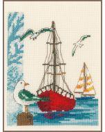 Vervaco borduurpakket zeilboot pn-0173173 borduren