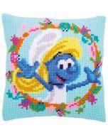 Vervaco De Smurfen Smurfette kruissteekkussen borduren pn-0185160