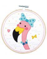 Vervaco knutselpakket met vilt flamingo pn-0186176 voor kinderen