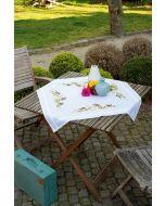 Vervaco tafelkleed tuinvogels tussen bloesem borduren pn-0155847 voorbedrukt