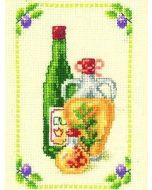 Borduurpakket Fles en karaf is een telpakket  van vervaco