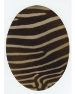 Kniestukken/elleboogstukken opstrijkbaar zebraprint